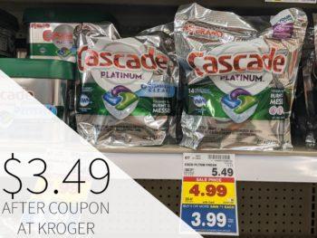 Cascade Actionpacs Just $3.49 At kroger