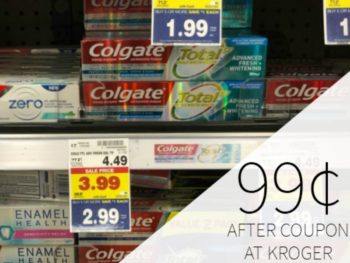 Colgate Toothpaste Just 50¢ Per Tube At Kroger 1