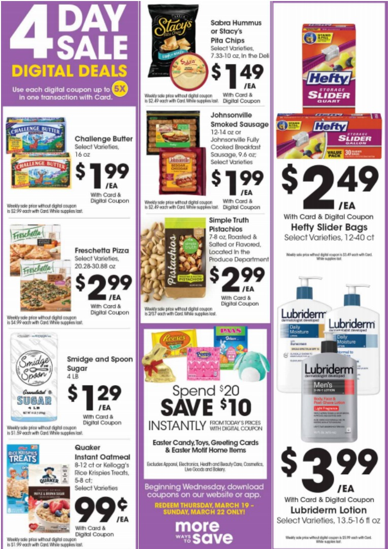 Load Your Coupons For The 4 Days Of Digital Deals (Valid 3/19 to 3/22)