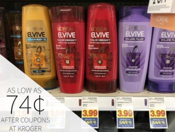 L'Oreal Elvive Haircare As Low As 74¢ At Kroger