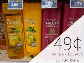 Garnier Fructis Hair Care As Low As 49¢ At Kroger