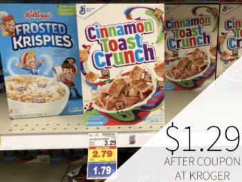 General Mills Cereal Just $1.29 At Kroger 2
