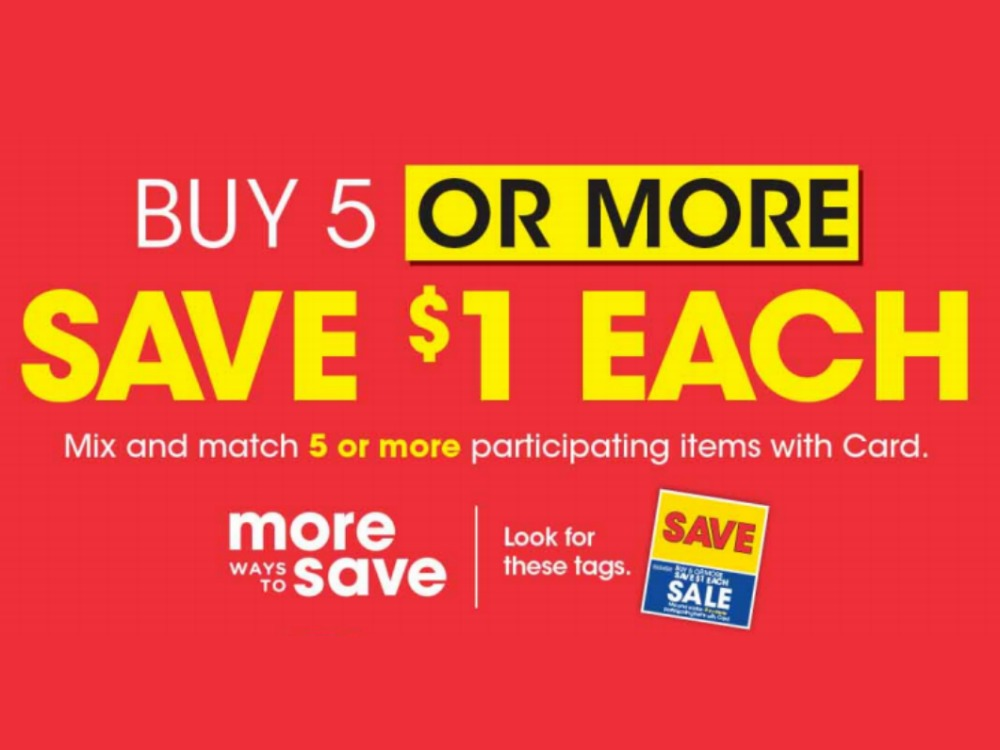 Kroger What A Deal! Buy 5 Or More, Save  Each Mega Sale Full Inclusion List (Valid 3/18 to 3/31)