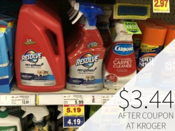 Resolve Pet Expert Carpet Cleaner As Low As $3.44 At Kroger