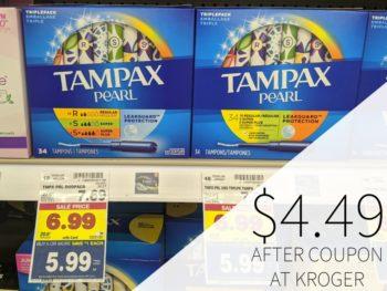 Tampax Pearl Just $4.49 Per Box At Kroger