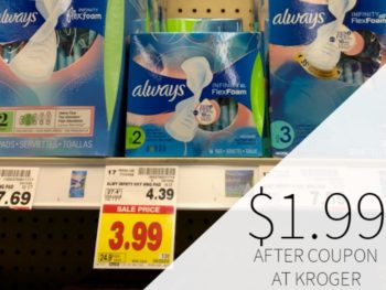 Always Pads Just As Low As $1.99 At Kroger