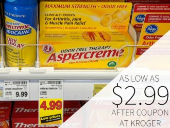Aspercreme As Low As $2.99 At kroger