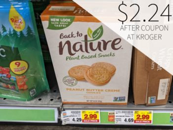 Back To Nature Cookies Or Crackers Just $2.24 At Kroger