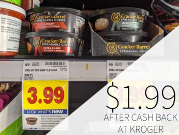 Cracker Barrel Spreadable Cheese Just $1.99 At Kroger