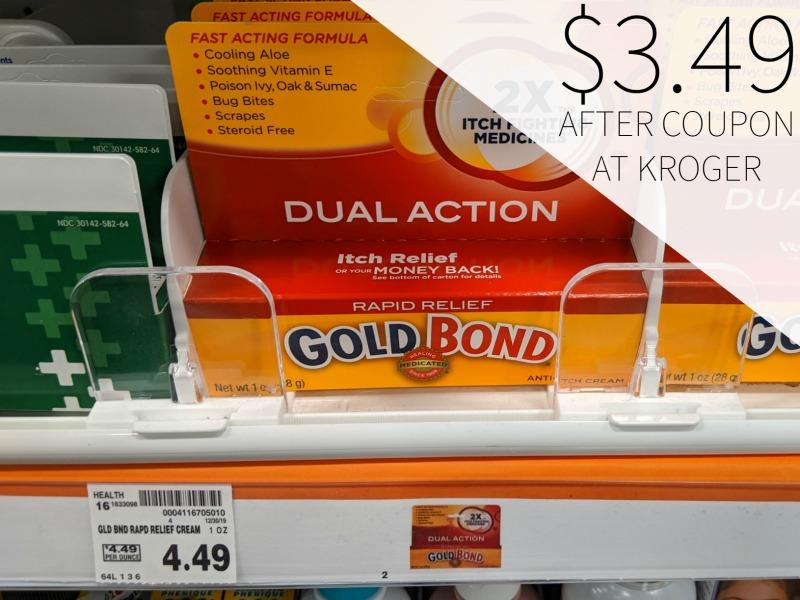 Gold Bond Rapid Relief Cream Just $2.99 At Kroger