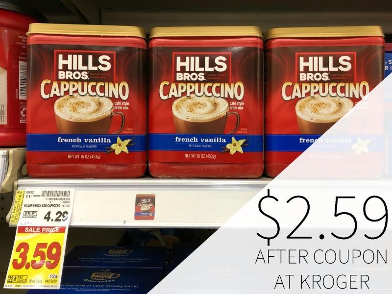 Hills Bros Cappuccino Mix Just .59 At Kroger