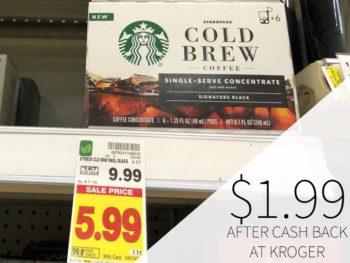 Starbucks Cold Brew Coffee Just $1.99 At Kroger