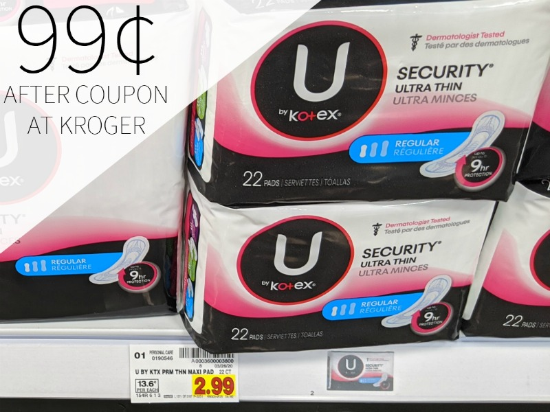 U By Kotex Products As Low As 99¢ At Kroger 1