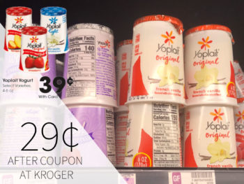Yoplait Yogurt Just 29¢ Per Cup At Kroger
