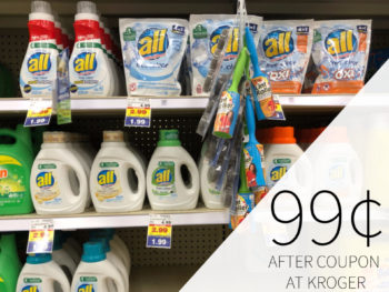 All Laundry Detergent Just 99¢ At Kroger