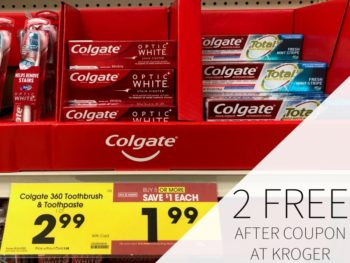 Colgate TotalSF or Optic White Toothpaste FREE At Kroger