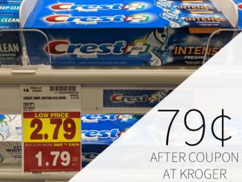 Crest Toothpaste As Low As 79¢ At Kroger
