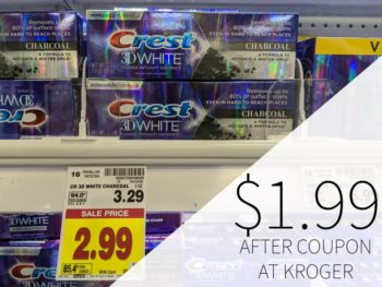 Crest Toothpaste As Low As $1.99 At Kroger