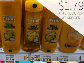 Garnier Fructis Hair Care As Low As $1.79 Per Bottle At Kroger