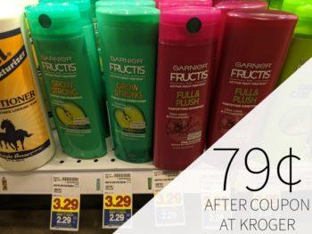 Garnier Fructis Hair Care As Low As 79¢ Per Bottle At Kroger