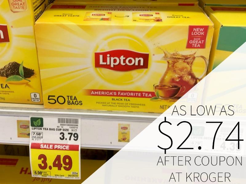 Lipton Tea Bags As Low As .74 At Kroger