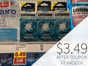 Listerine Ready Tabs Just $3.49 At Kroger