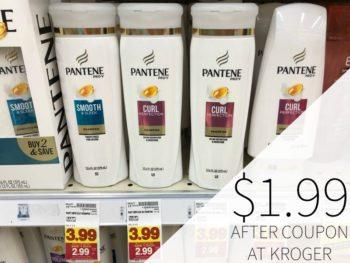 Pantene Shampoo or Conditioner just $1.99 Per Bottle At Kroger