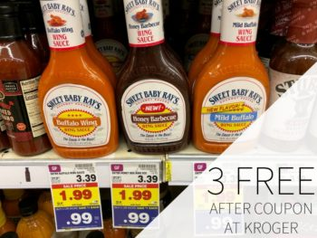 Sweet Baby Ray's Wing Or Hot Sauce As Low As FREE At Kroger