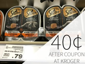 Sheba Perfect Portions Just 40¢ Each At Kroger