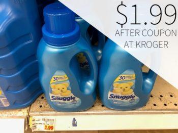 Snuggle Fabric Softener just $1.99 At Kroger