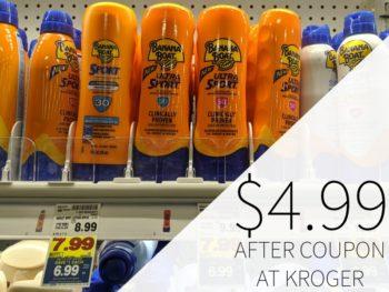 Banana Boat Or Hawaiian Tropic Sunscreen Just $4.99 At Kroger