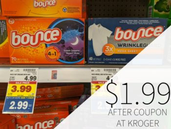 Bounce Sheets Just $1.99 At Kroger