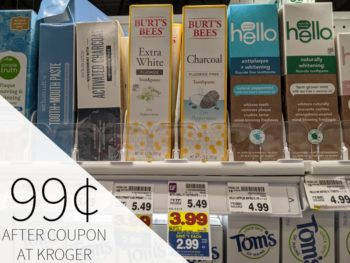 Burt's Bees Adult Toothpaste As Low As 99¢ At Kroger