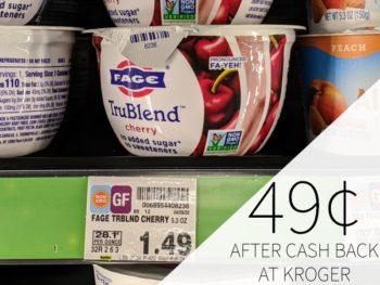 Fage TruBlend Greek Yogurt just 49¢ At Kroger