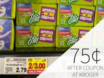 Yoplait Go-Gurt Just 75¢ Per Box At Kroger