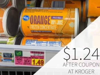 Kroger Orange Juice Frozen Concentrate Just $1.24