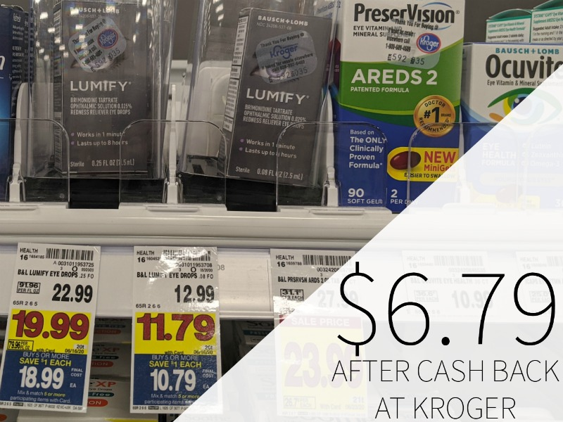Bausch+Lomb Lumify Just .79 At Kroger