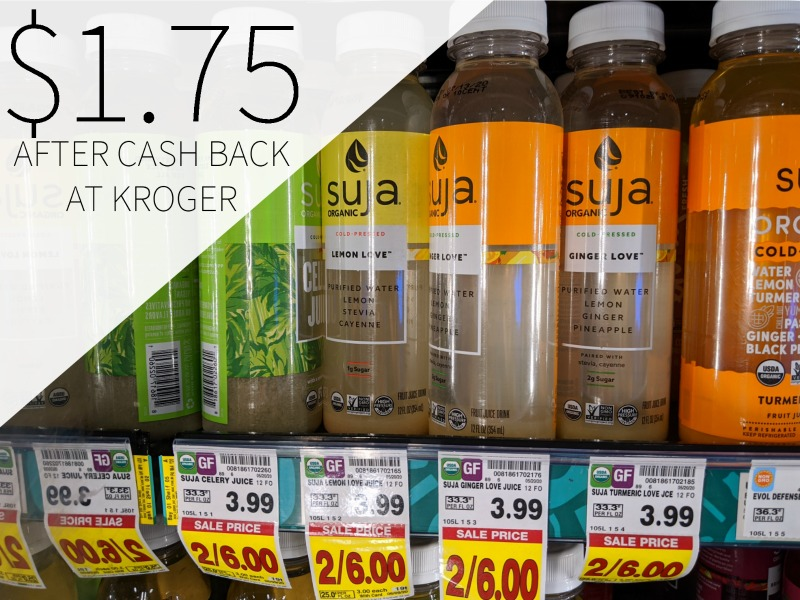 Suja Juice Just $1.75 Each At Kroger