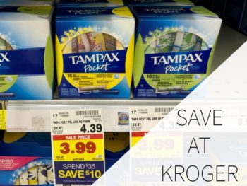 Save On Tampax And Always At Kroger