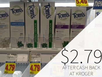 Tom's Of Maine Toothpaste Just $2.79 At Kroger