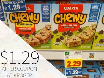 Quaker Chewy Granola Bars Just $1.29 At Kroger