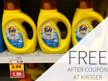 Tide Simply Laundry Detergent FREE At Kroger