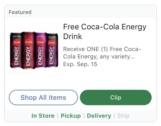 FREE Coca-Cola Energy At Kroger