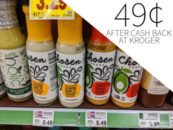 Chosen Foods Dressing Just 49¢ At Kroger