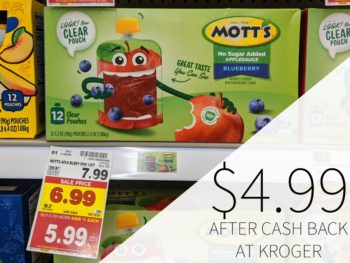 Mott's Applesauce Pouches Just $4.99 At Kroger
