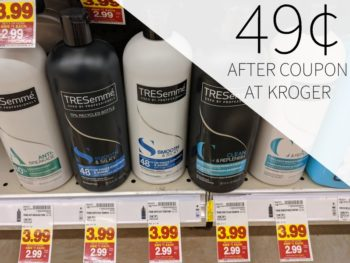 TRESemme Hair Care As Low As 49¢ Per Bottle At Kroger