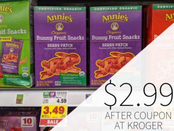 Annie's Snacks Just $2.99 Per Box At Kroger