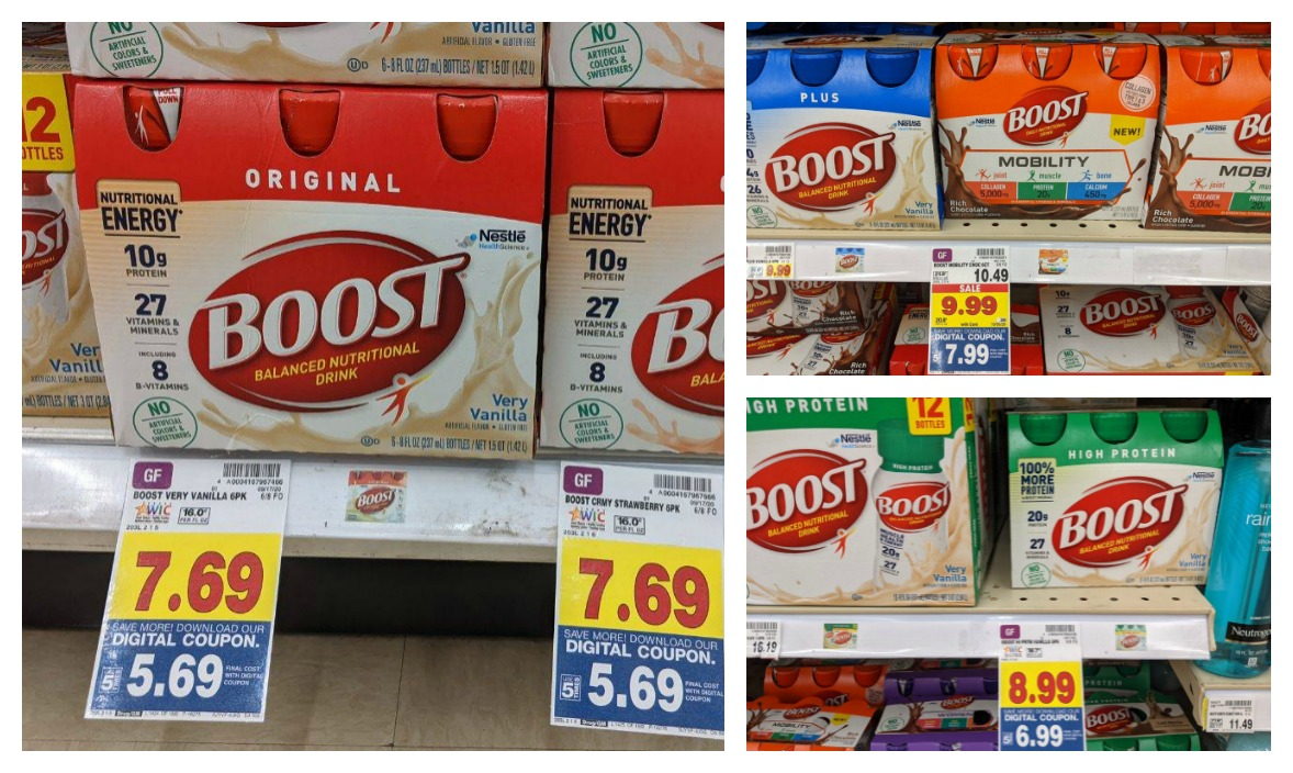 Save On BOOST® Nutritional Drinks With The 5x Digital Coupon - Clip The Coupon Once An Get Up To Five Packs At A Discount
