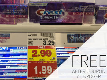 Crest Total SF Toothpaste - 2 Tubes FREE At Kroger 1