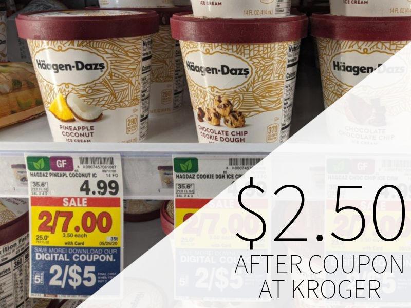 Haagen-Dazs Ice Cream Just .50 Per Carton At Kroger